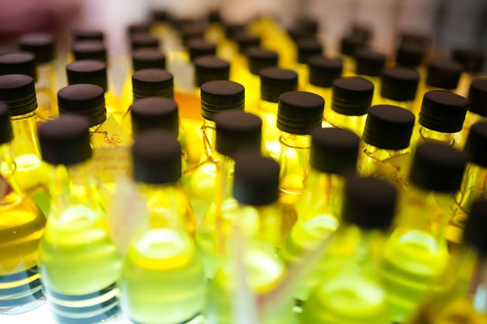plastic bottles of honey